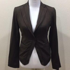BCBG Maxazira Brown Crop Jacket